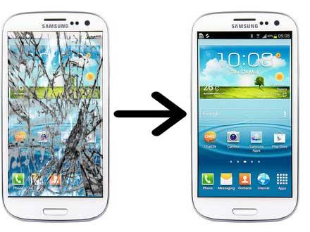 samsung galaxy s3 smashed screen - Pigesnė alternatyva Samsung ekrano keitimui